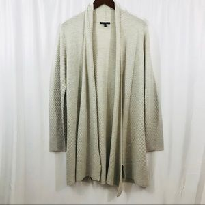 Eileen Fisher Long draped Tunic Cardigan Top